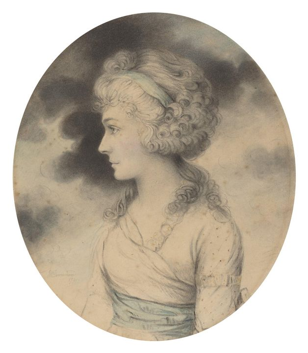 John Downman~Portrait of a Woman wit - Artmaster