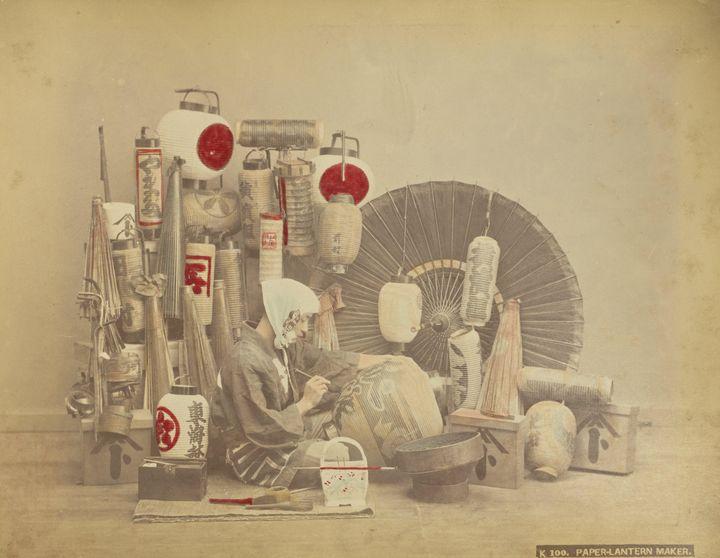 Kusakabe Kimbei~Paper Lantern Maker - Artmaster