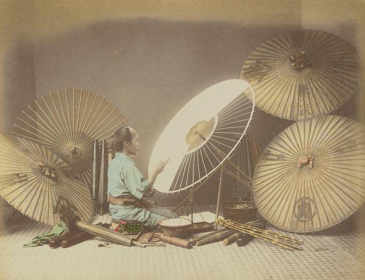 Kusakabe Kimbei~Umbrella Maker - Artmaster