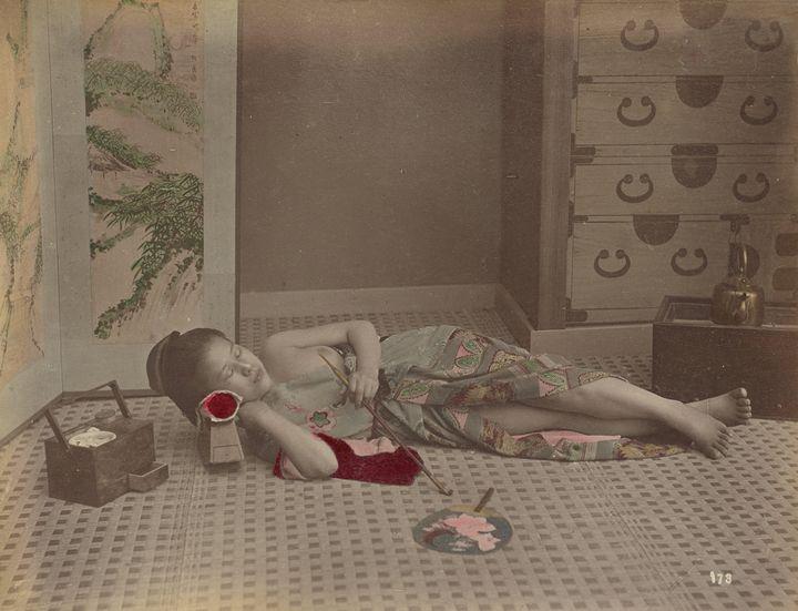 Kusakabe Kimbei~[Woman Reclining wit - Artmaster