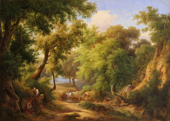 Károly Markó the Elder~Landscape wit - Artmaster