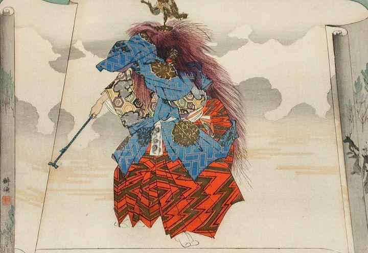 Kōgyo Tsukioka~Scene from the Noh Pl - Artmaster