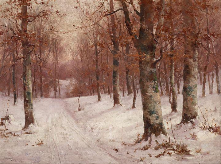John Elwood Bundy~Woods in Winter - Artmaster