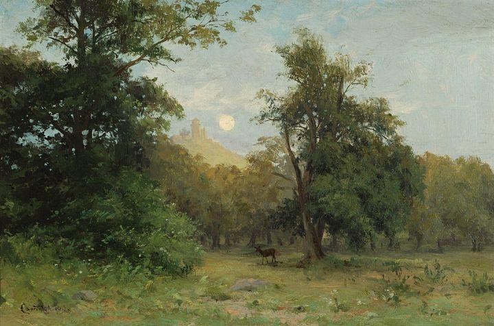 Lajos Csordák~Moonlit Landscape with - Artmaster