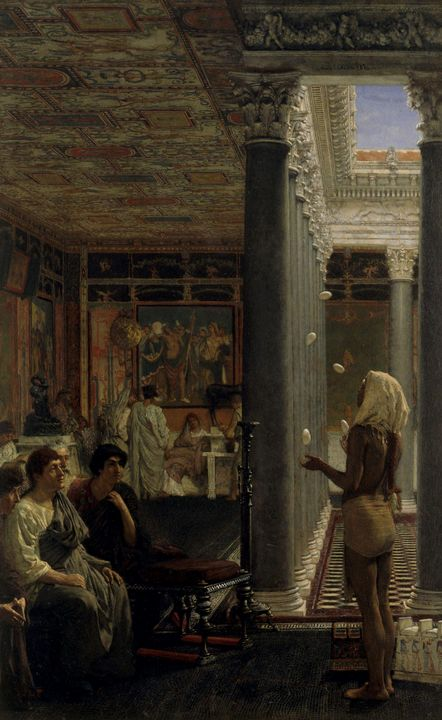 Lawrence Alma-Tadema~A juggler - Artmaster