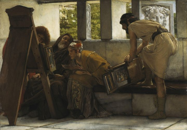 Lawrence Alma-Tadema~A Roman Studio - Artmaster