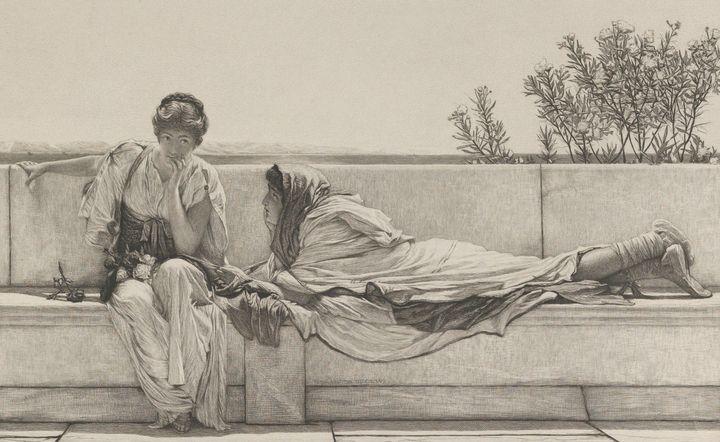 Lawrence Alma-Tadema~Pleading - Artmaster