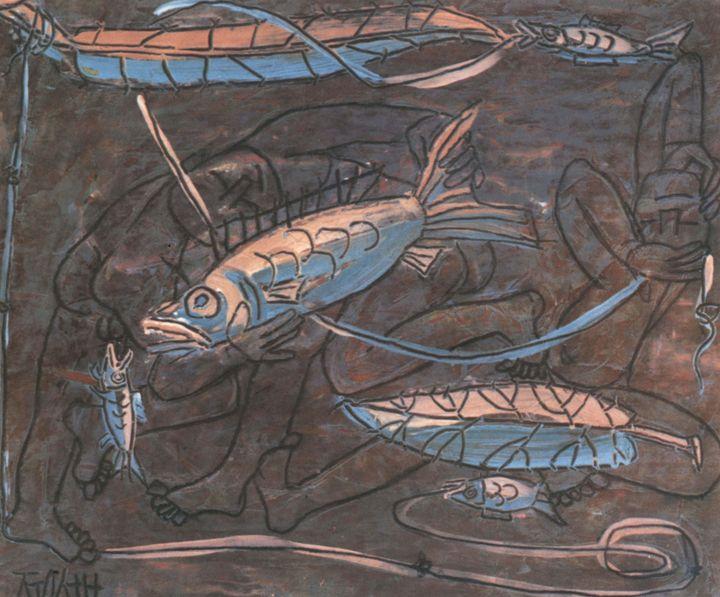 Lee Jung-seob~Boys and Fish - Artmaster