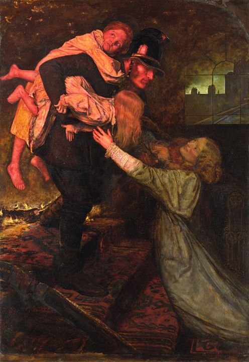 John Everett Millais~The rescue - Artmaster