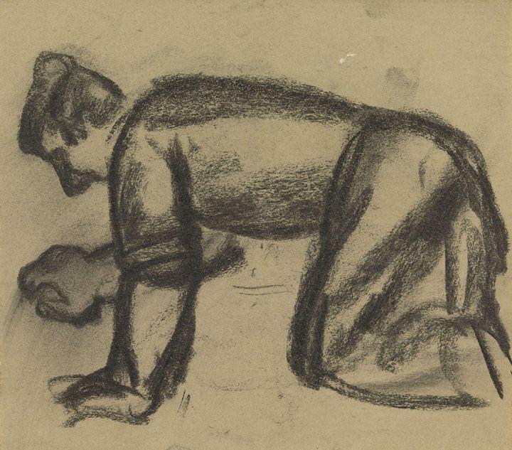 Leo Gestel~Knielende man - Artmaster
