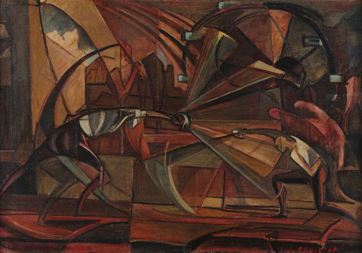 Leon Chwistek~Fencing Match - Artmaster