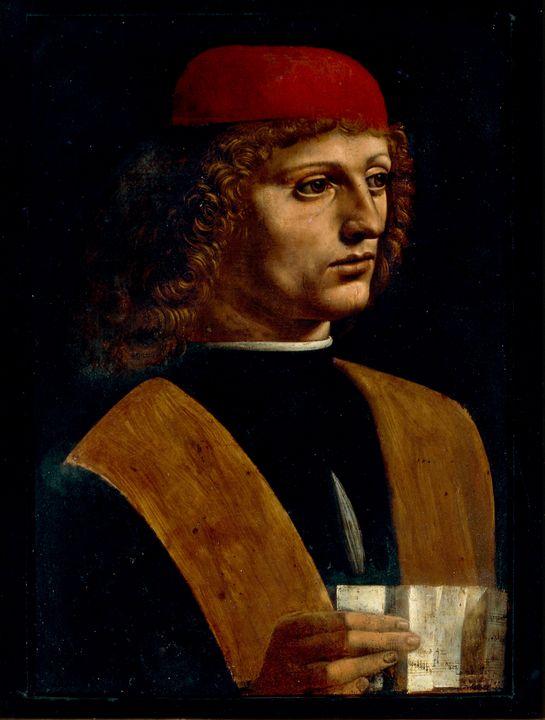 Leonardo da Vinci~Portrait of a Musi - Artmaster
