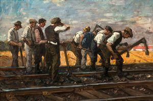 Leonhard Sandrock~Railroad Workers (