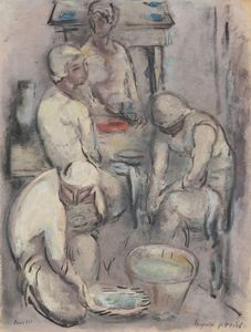Leopold Gottlieb~Group of Seated Fig
