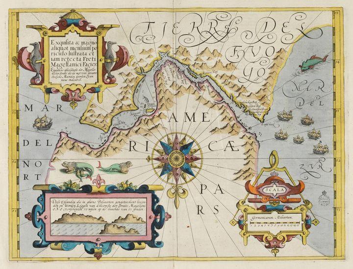 Jodocus Hondius~Map of the Strait of - Artmaster