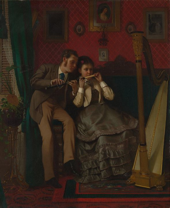 John George Brown~The Music Lesson - Artmaster