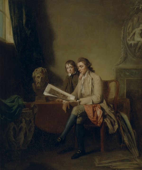 John Hamilton Mortimer~Portrait of a - Artmaster
