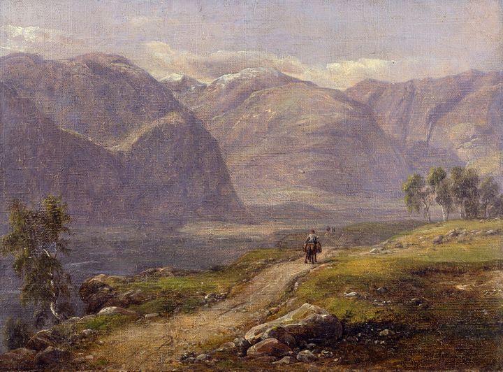 Johan Christian Dahl~Mountains at La - Artmaster