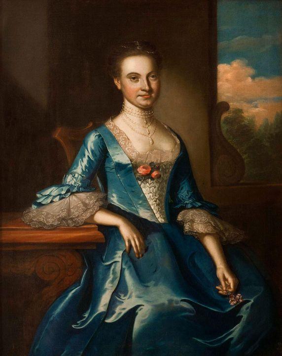John Hesselius~Portrait of Susannah - Artmaster