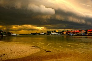 Big Thunder cloud at the beach