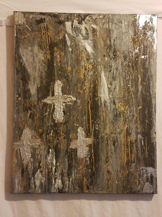 Old Rugged Cross Art work - Paula cardenas' artwork