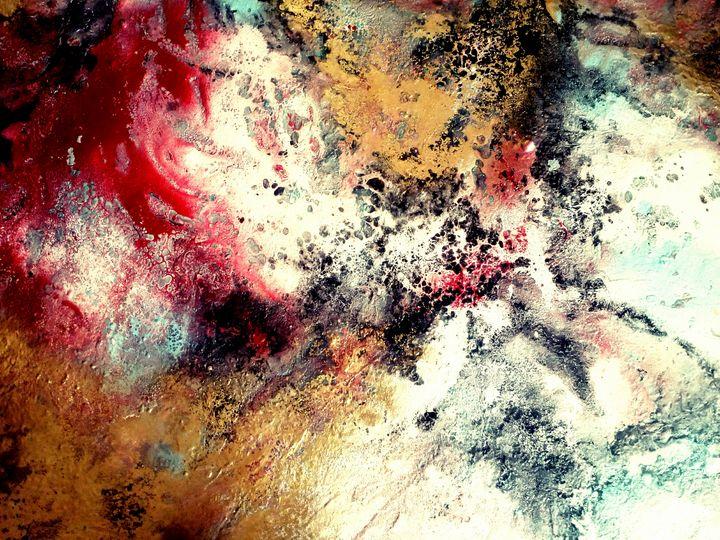 Feeling abstract acrylic painting - Mariana art