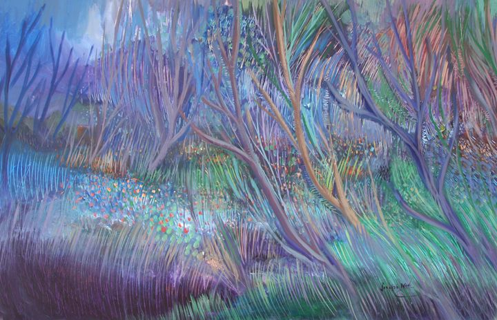 Untitled Abstract (Acrylic) - Joseph Nader