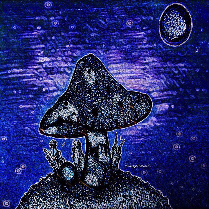 Moonlit Mushroom - MaryLeeParkerArt