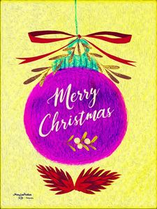 Merry Christmas   Ornament - MaryLeeParkerArt