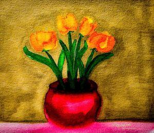 Tulips In watercolors
