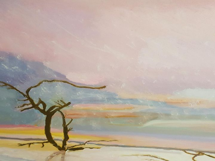 Sunset Over Menindee Lake OutbackNSW - Diane Markey's Online Art Gallery
