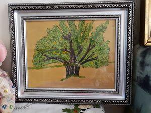 Lone Tree in Watercolor