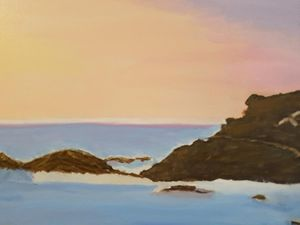 Oil Painting of Tacking Point Beach