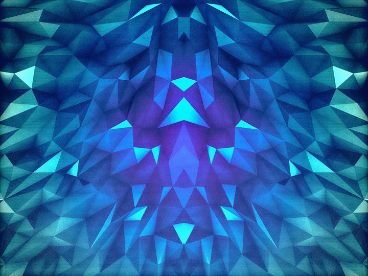 Deep Blue Collosal Low Poly Triangle - BADBUGS