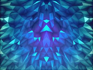 Deep Blue Collosal Low Poly Triangle