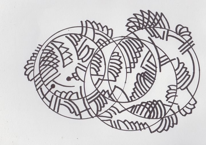 Circles Abstract - Ozroc Arts (JDC)