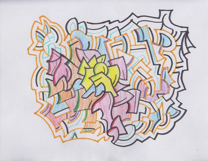 Orange Abstract - Ozroc Arts (JDC)