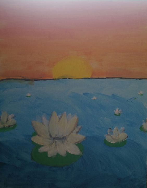 Water Lilies at Sunset - Ciana Chyann
