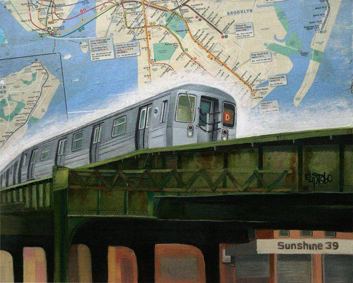 Subway D- train - Art of ELSTABO