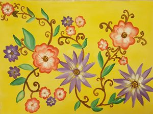 Flower Vine Painting