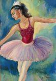 Ballerina on scene