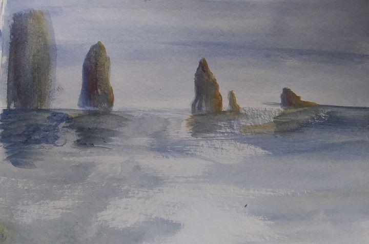 Rocks on water - Heidi Bretches