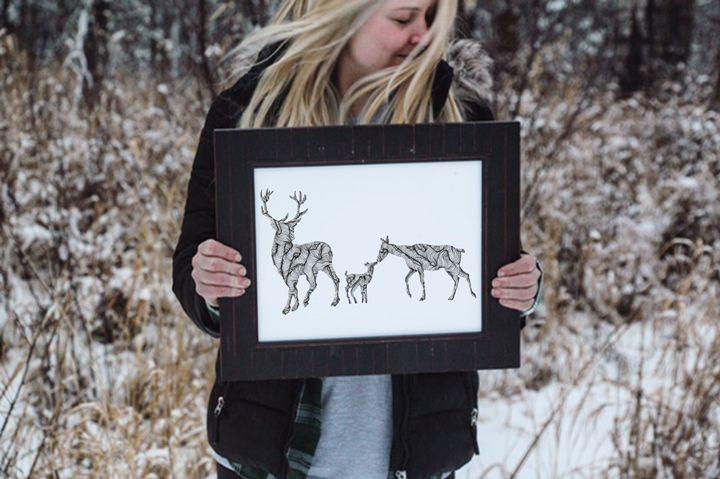 Wander Together - Deer Family - Wanderingline