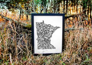 Minnesota Wanderer - 18x24 - Wanderingline
