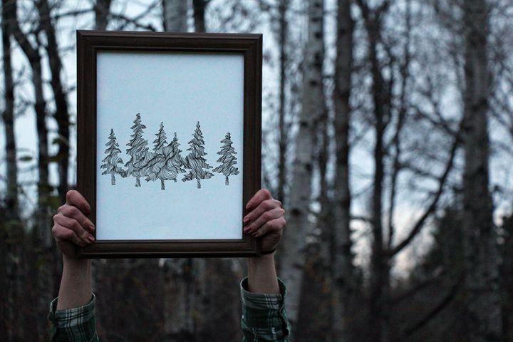 Wander in the Woods Print - 11x14 - Wanderingline