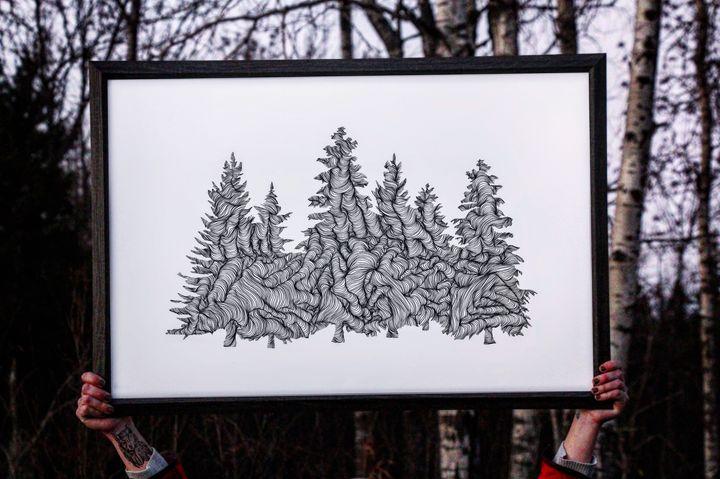 Wander in the Woods - 24x36 - Wanderingline