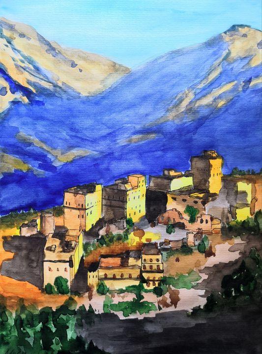 Village in Yemen - Anthony Lebedev