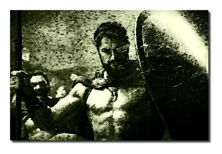 300-Spartans Canvas Art, size A1 NEW - David Gilkes