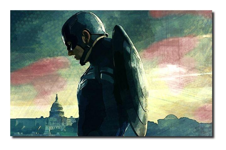 Captain America Canvas Art, size A1! - David Gilkes