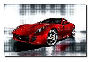 Ferrari Canvas Art, size A1 NEW! - David Gilkes